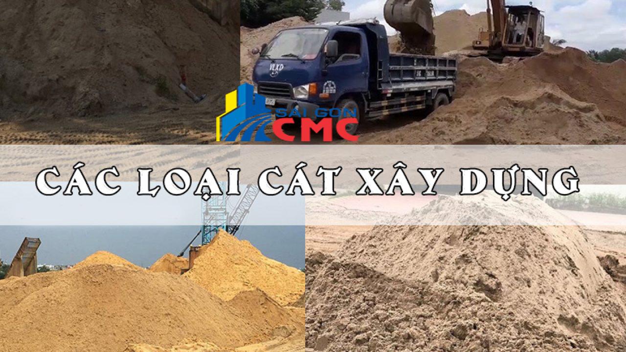 Các loại cát xây dựng phổ biến hiện nay