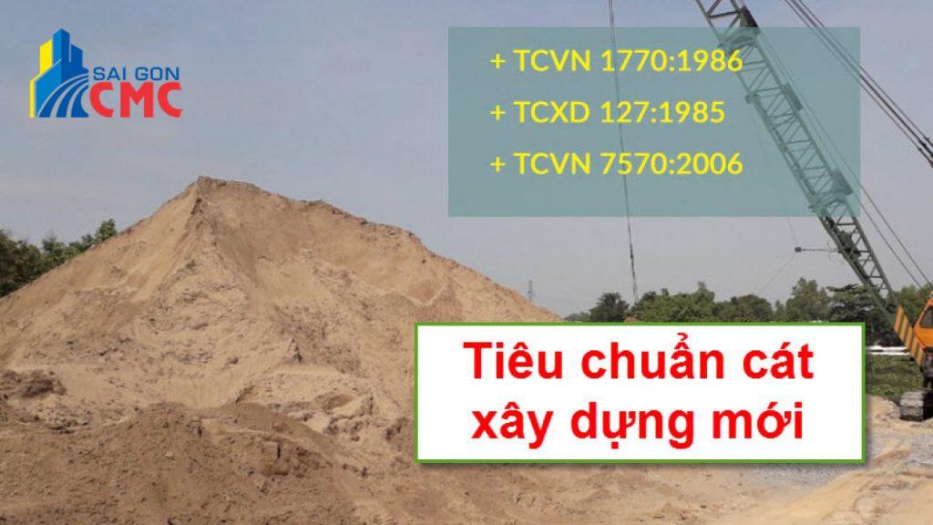 TIÊU CHUẨN VỀ CÁT XÂY DỰNG MỚI NHẤT : TCVN 7570 - 2006