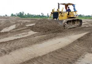 Cửa hàng phân phối cát san lấp tại quận 8