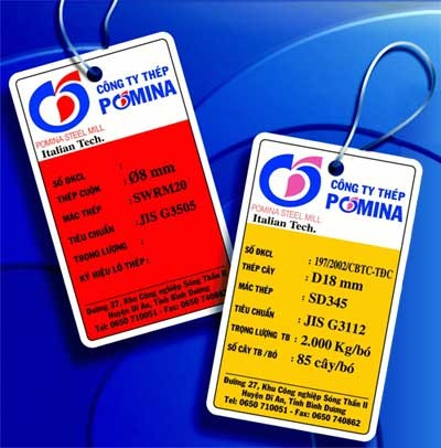 Nhận biết thép Pomina qua hóa đơn nhập hàng từ nhà máy thép Pomina