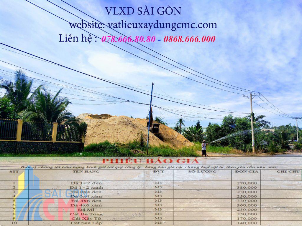Giá cát san lấp tại huyện Bình Chánh năm 2021