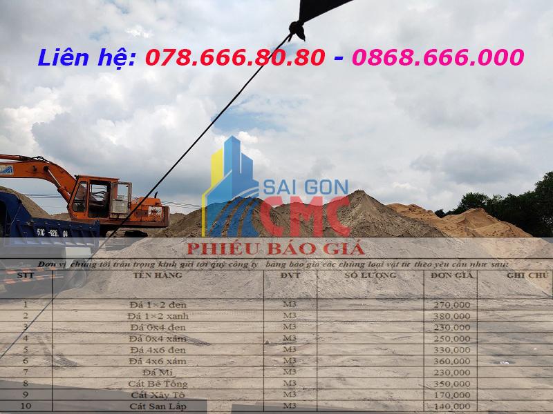 Bảng báo giá cát bê tông tại Quận 5 năm 2021