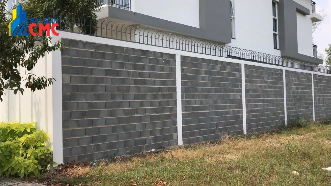 Gạch Block xây hàng rào