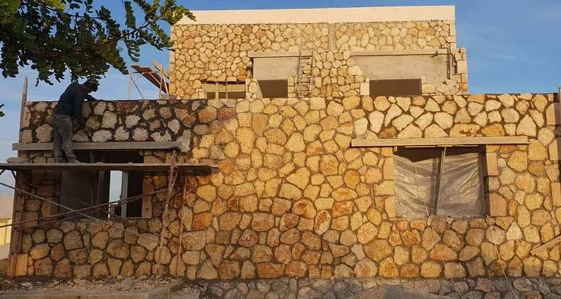 Công trình xây bằng đá hộc