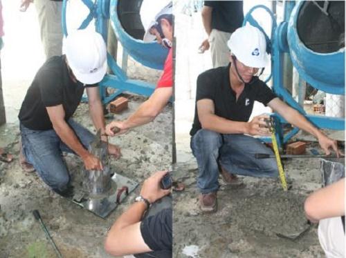Các bước đo độ sụt của bê tông