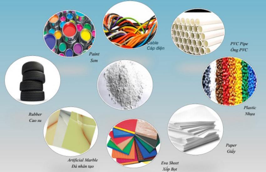 Ứng dụng của bột đá trong nhiều lĩnh vực của cuộc sống