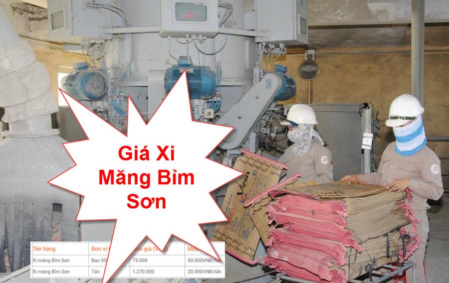 Giá xi măng Bỉm Sơn