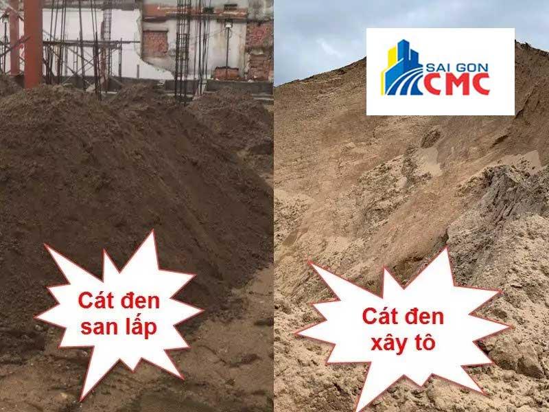 Các loại cát đen xây dựng