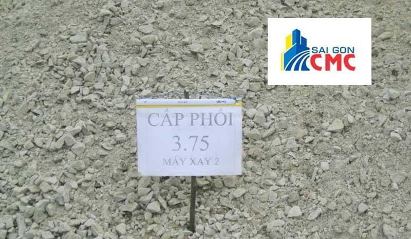 Đá cấp phối là hỗn hợp đá mi bụi và đá dăm