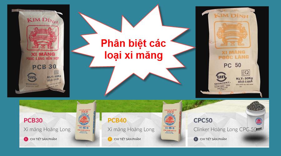 Giá Xi Măng PC30, PC40, PC50 Và PCB30, PCB40, PCB50